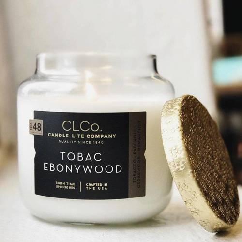 Candle-lite CLCo Candle Jar luxury scented candle 14 oz 396 g - No. 48 Tobac Ebonywood