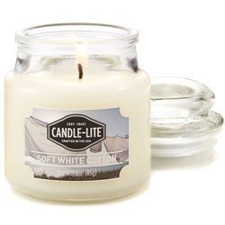 Candle-lite Everyday Collection Jar Glass Candle With Lid 3 z 85 g - Soft White Cotton