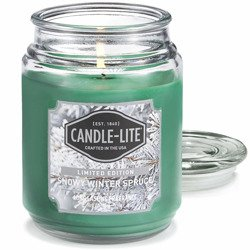 Candle-lite Everyday Collection Large Scented Jar Glass Candle 18 oz 145/100 mm 510 g ~ 110 h - Snowy Winter Spruce