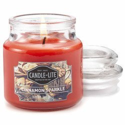 Candle-lite Everyday Collection Scented Small Jar Glass Candle With Lid 3 oz 95/60 mm - Cinnamon Sparkle
