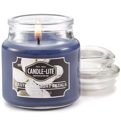 Candle-lite Everyday Collection Scented Small Jar Glass Candle With Lid 3 oz 95/60 mm - Exotic Midnight Petals