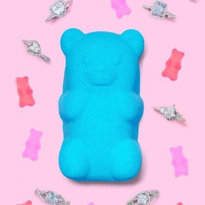 Charmed Aroma Gummy Bear jewel bath bomb with Silver Ring