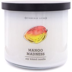 Colonial Candle Luxe large soy scented candle 3 wicks 14.5 oz 411 g - Mango Madness