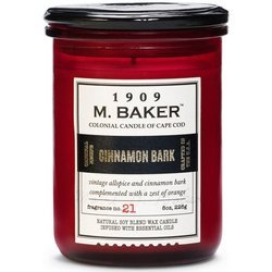 Colonial Candle M. Baker soy scented candle apothecary jar 8 oz 226 g - Cinnamon Bark