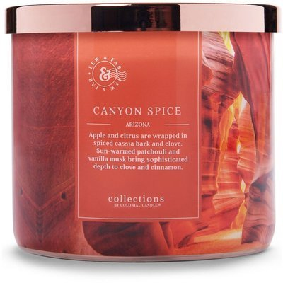 Colonial Candle Travel large soy scented candle 3 wicks 14.5 oz 411 g - Canyon Spice