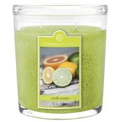 Colonial Candle large scented oval jar candle 22 oz 623 g - Citrus Woods