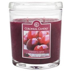 Colonial Candle medium scented oval jar candle 8 oz 226 g - Cranberry Spice