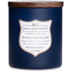 Colonial Candle wooden wick soy scented candle navy 15 oz 425 g - Woodland Escape
