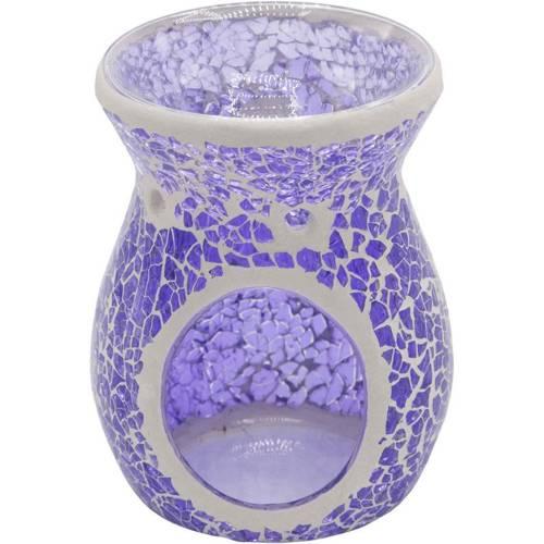 Musina wax burner lantern effect stained glass - Purple