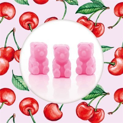 Ted & Friends soy wax melts bears 50 g - Superfruit Cherry