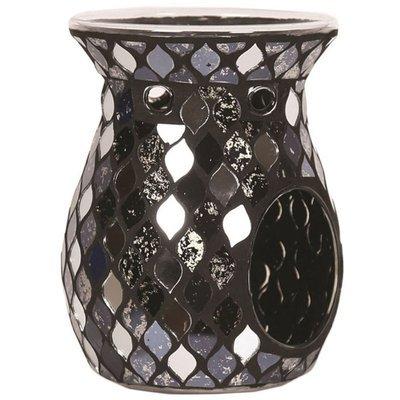 Woodbridge fragrance wax burner Black Mirror Teardrop Mosaic - Black