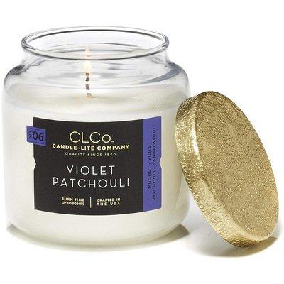 Candle-lite CLCo Candle Jar 14 oz luksusowa świeca zapachowa w szklanym słoju ~ 90 h - No. 06 Violet Patchouli