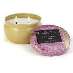 Candle-lite CLCo Candle Jar 6.25 oz luksusowa świeca zapachowa w ozdobnej puszce ~ 30 h - No. 58 Bordeaux Fig
