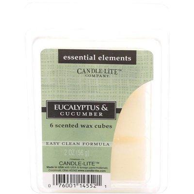 Candle-lite Essential Elements Wax Cubes 2 oz wosk zapachowy sojowy z olejkami eterycznymi 56 g ~ 10 h - Eucalyptus & Cucumber