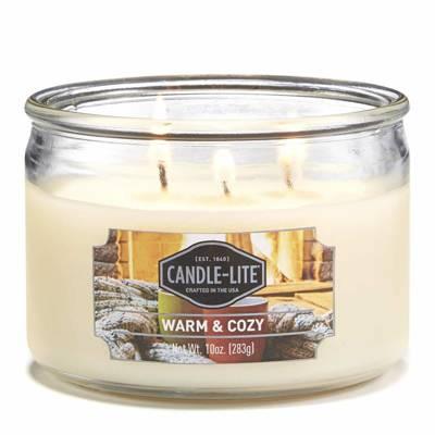 Candle-lite Everyday Collection 3-Wick Terrace Jar Glass Candle 10 oz świeca zapachowa w szkle z trzema knotami 82/105 mm 283 g ~ 40 h - Santa's Cookies
