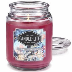 Candle-lite Everyday duża świeca zapachowa w szklanym słoju 145/100 mm 510 g ~ 110 h - Sugar Plum Garland