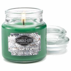 Candle-lite Everyday mała świeca zapachowa w szkle z pokrywką 95/60 mm 85 g - Snowy Winter Spruce