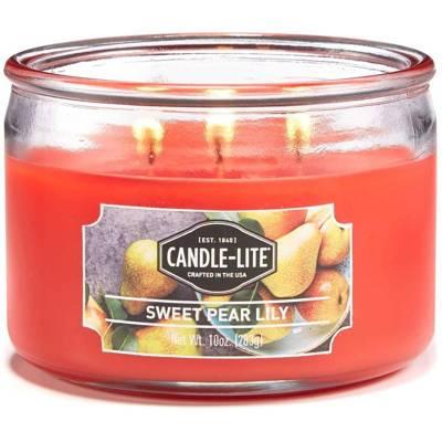 Candle-lite Everyday świeca zapachowa w szkle z trzema knotami 82/105 mm 283 g - Sweet Pear Lily