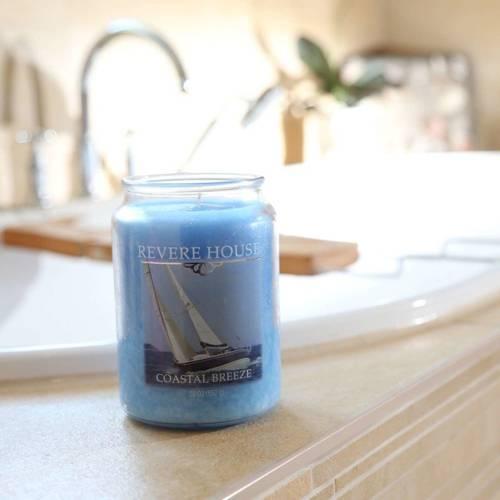 Candle-lite Revere House Jar Glass Candle With Lid 23 oz duża świeca zapachowa w szklanym słoju 185/100 mm 652 g ~ 120 h - Coastal Breeze