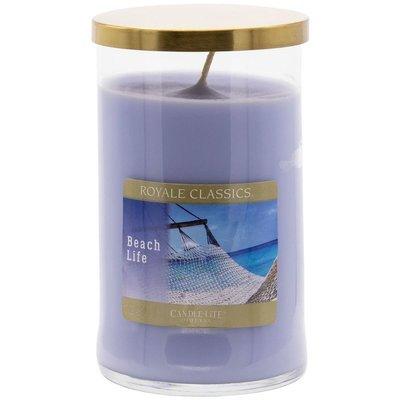 Candle-lite Royale Classics 17 oz luksusowa świeca zapachowa w szklanym słoju ~ 110 h - Beach Life