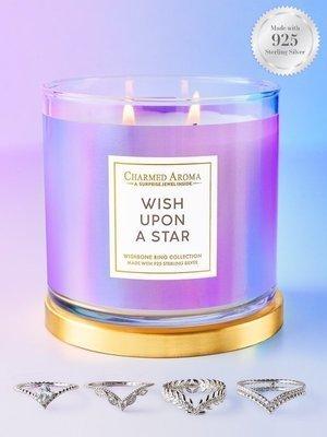 Charmed Aroma sojowa świeca zapachowa z biżuterią 12 oz 340 g Pierścionek - Wish Upon A Star