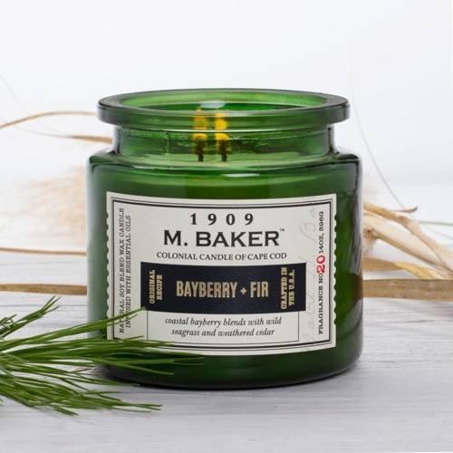 Colonial Candle M. Baker duża sojowa świeca zapachowa w słoju 14 oz 396 g - Bayberry & Fir