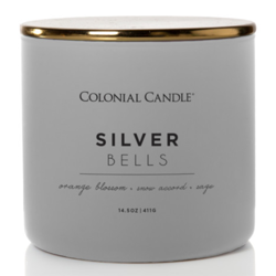 Colonial Candle Pop Of Color sojowa świeca zapachowa w szkle 3 knoty 14.5 oz 411 g - Silver Bells