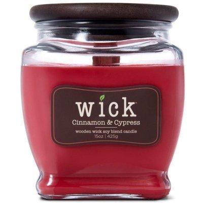 Colonial Candle Wick sojowa świeca zapachowa drewniany knot 15 oz 425 g - Cinnamon & Cypress
