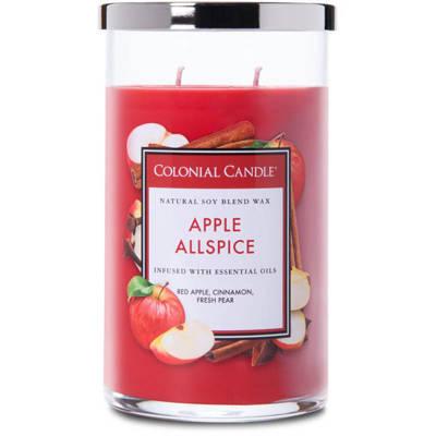 Colonial Candle duża świeca zapachowa sojowa w szkle tumbler 18 oz 510 g - Apple Allspice