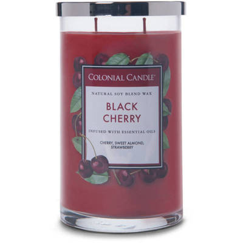 Colonial Candle duża świeca zapachowa sojowa w szkle tumbler 18 oz 510 g - Black Cherry