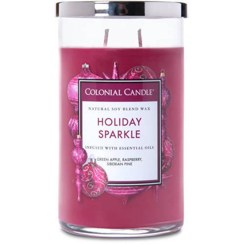 Colonial Candle duża świeca zapachowa sojowa w szkle tumbler 18 oz 510 g - Holiday Sparkle