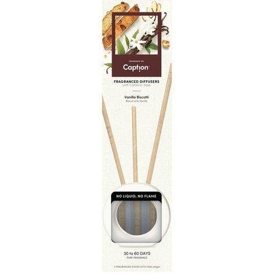 Enviroscent Caption zestaw startowy z wazą patyczki zapachowe dyfuzor naturalny z papieru 3 szt - Vanilla Biscotti