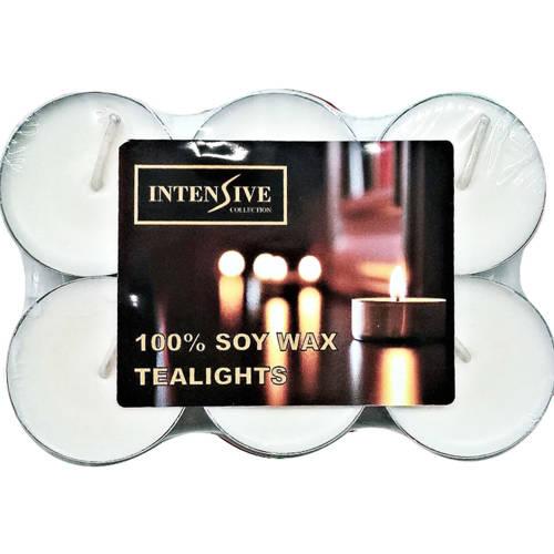 INTENSIVE COLLECTION 100% Soy Wax Tealights podgrzewacze sojowe bezzapachowe świeczki do masażu 6 szt ~ 5 h