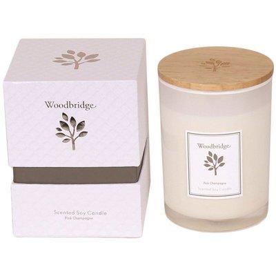Woodbridge świeca zapachowa sojowa w szkle 270 g pudełko - Pink Champagne