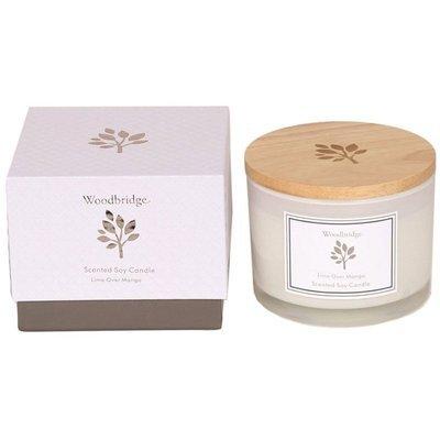 Woodbridge świeca zapachowa sojowa w szkle 3 knoty 370 g pudełko - Lime Over Mango