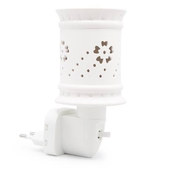 Kominek do wosków zapachowych elektryczny lampka nocna Sula - Biały