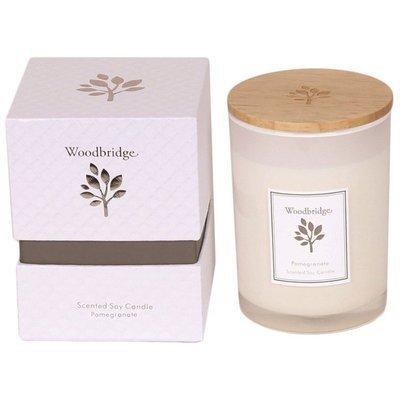 Свеча Woodbridge с ароматом сои в стеклянной коробке 270 г - Pomegranate