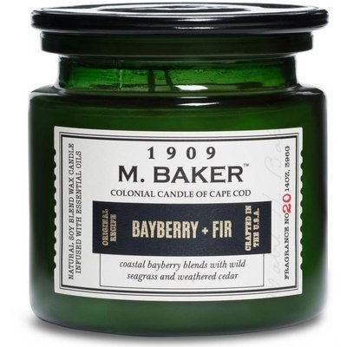 Colonial Candle M. Baker большая ароматическая соевая свеча в банке 14 унций 396 г - Bayberry & Fir