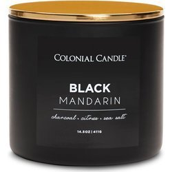 Colonial Candle Pop Of Color sojowa świeca zapachowa w szkle 3 knoty 14.5 oz 411 g - Black Mandarin