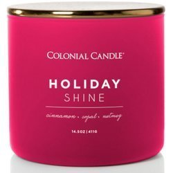 Colonial Candle Pop Of Color sojowa świeca zapachowa w szkle 3 knoty 14.5 oz 411 g - Holiday Shine
