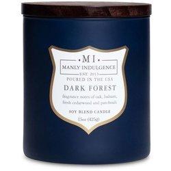Colonial Candle sojowa świeca zapachowa w szkle drewniany knot 15 oz 425 g - Dark Forest